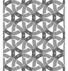 Seamless pattern perforation bacground vector image