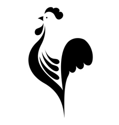 stylized cock vector image vector image