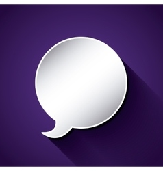 think text balloon design vector image