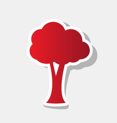 tree sign new year reddish vector image