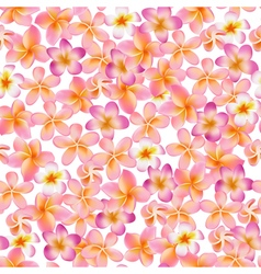Tropical flowers background vintage seamless vector