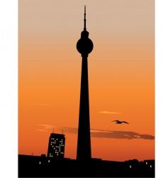 Berlin tv tower vector