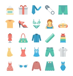 Fashion and clothes icons 8 vector