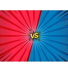 Comic versus battle intro background vector