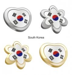 flag of south Korea vector image