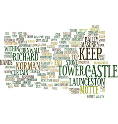 Launceston castle text background word cloud vector