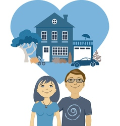 Building a life together vector