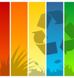 recycle background vector image