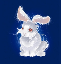 magic white rabbit vector image