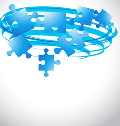 Puzzle flying shape vector