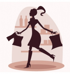 Shop silhouette vector