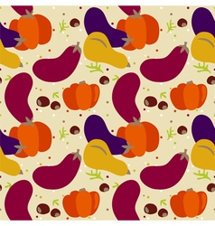 Pattern autumn vegetables vector