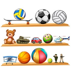 Ball set and other toys vector