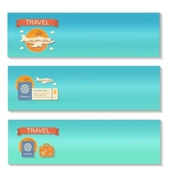 Summer travel - decorative horizontal vector
