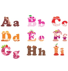 Sweet letters of the alphabet vector
