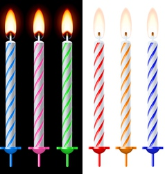 Colorful holiday candles vector