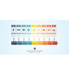 Conceptual business timeline infographic 9 vector
