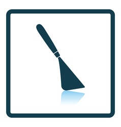 Palette knife icon vector
