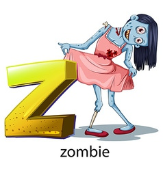 A letter Z for zombie vector image