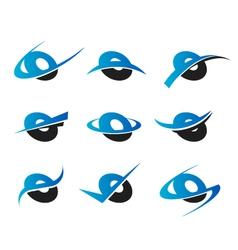 Alphabet O Logo Icons vector image vector image