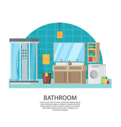 Bathroom interior design composition vector