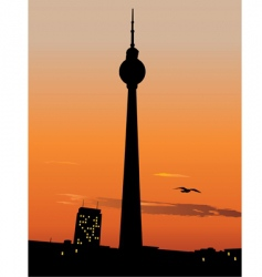 berlin TV tower vector image vector image