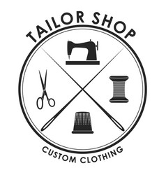 black tailor badge vector image