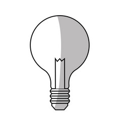 bulb light icon vector image