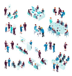 business education isometric set vector image vector image