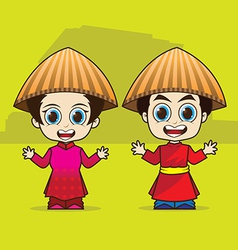 Cartoon asean vietnam vector
