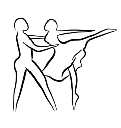 Couple dancing sketch concept vector image