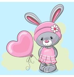 Cute Cartoon Rabbit Girl vector image vector image