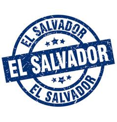 El salvador blue round grunge stamp vector