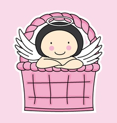 Fairy in a basket vector image vector image