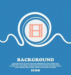 film icon sign Blue and white abstract background vector image