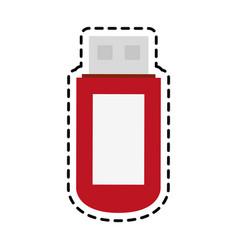 flash disk icon vector image