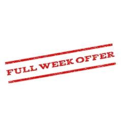 Full week offer watermark stamp vector