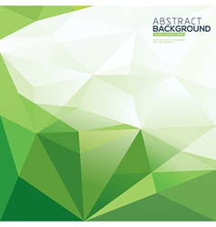 green triangle abstract polygonal background vector image vector image