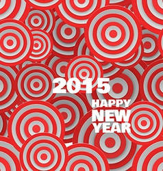 Happy 2015 new year on abstract round background vector image vector image