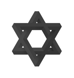 Impossible star of david vector