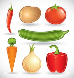 mixed vegetables - set 1 of 2 vector image vector image