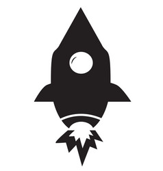 Rocket icon on white background flat style vector