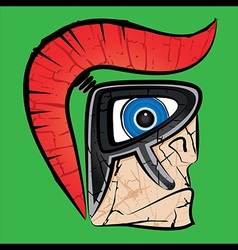 Spartan warrior face profile vector