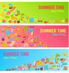 Summer time banner vector