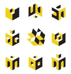 symbols on construction topics vector image