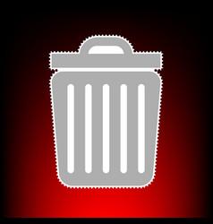 trash sign postage stamp or old vector image