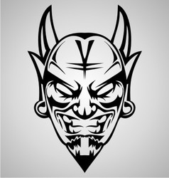 Tribal devil head vector