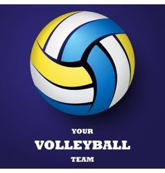 Volleyball background with text vector image