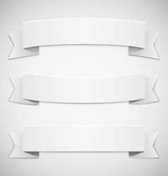 White Banners and Ribbons vector image vector image