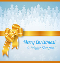 White Merry Christmas Landscape vector image